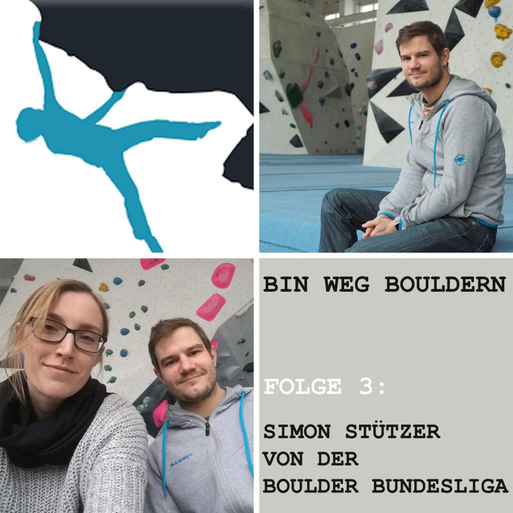 Simon Stützer von der Boulder Bundesliga im BIN WEG BOULDERN Interview