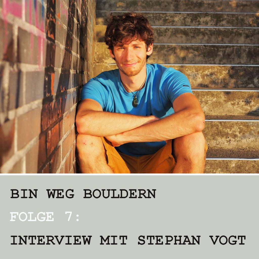 Der Berliner Boulderer und Action Directe-Kletterer Stephan Vogt im BIN WEG BOULDERN.Interview.