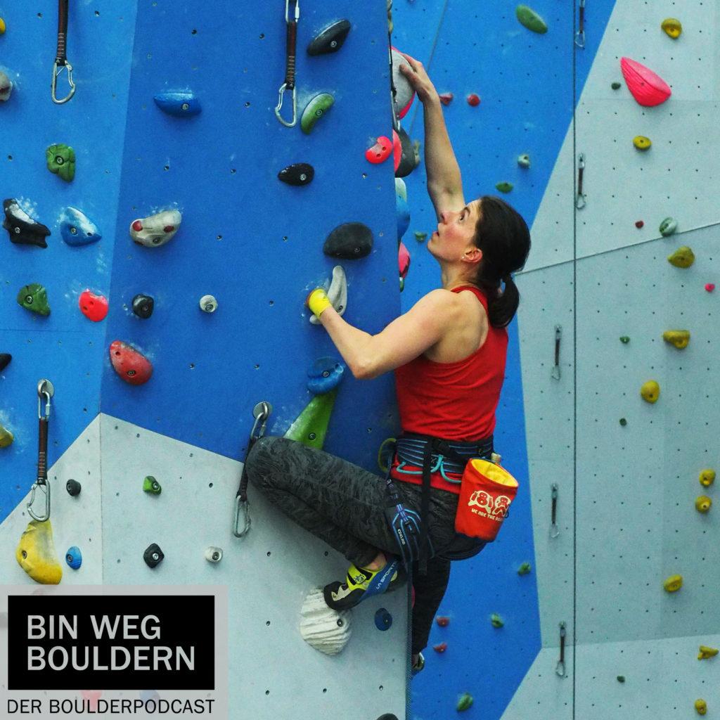 Melinda Vigh climbing in Berlin
