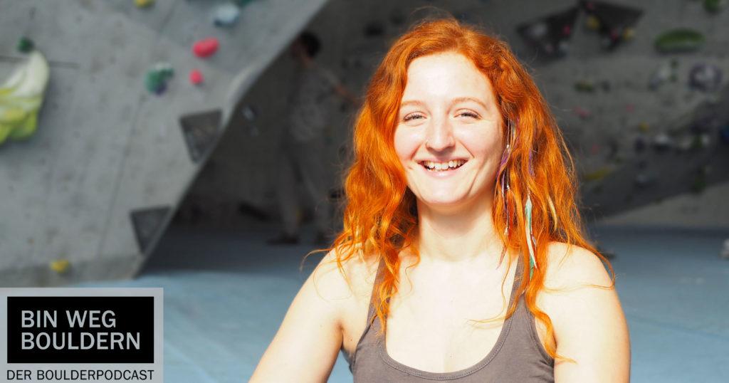 Physiotherapeutin Sharon Redling redet im BIN WEG BOULDERN Podcast über nachhaltiges Bouldern.
