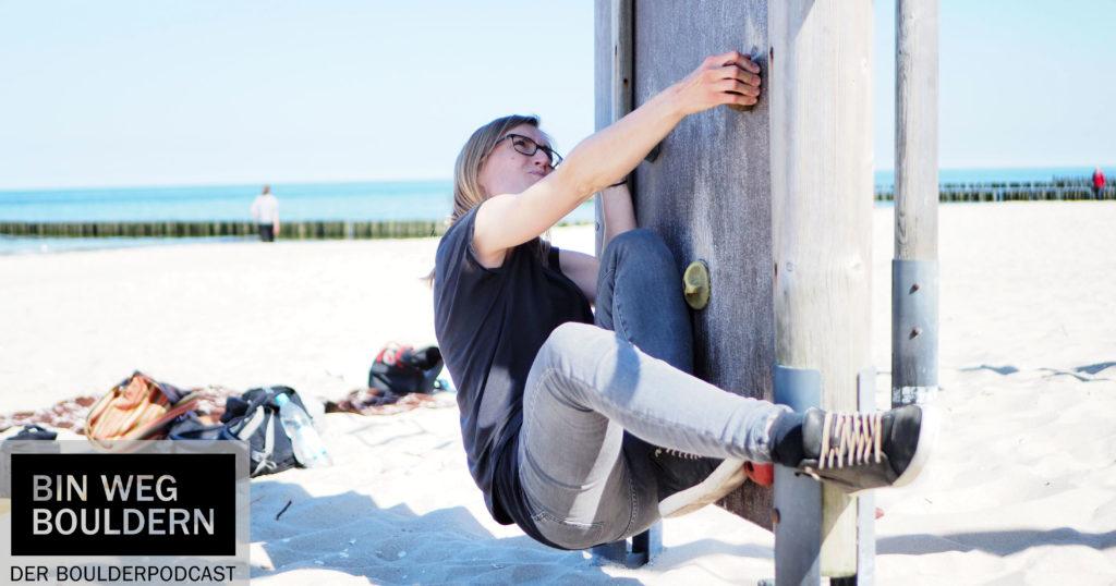 Ich bin weg bouldern - am Strand auf Usedom