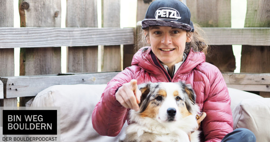 Melissa Le Nevé and her dog Ollie at the Studio Bloc Masters 2019