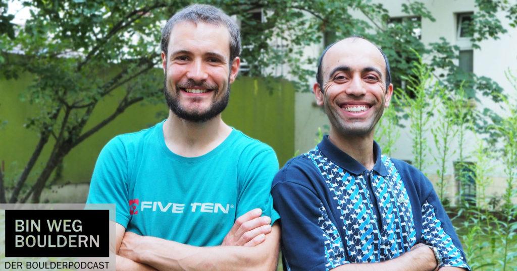 Rob Buse und Majid Shokat - reden über Routesetting im BIN WEG BOULDERN Schraubertalk Teil 2