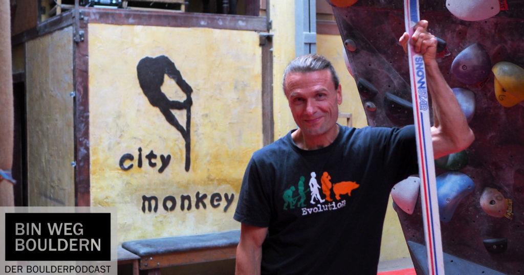Mike Schuh in der Citymonkey Boulderhalle Essen