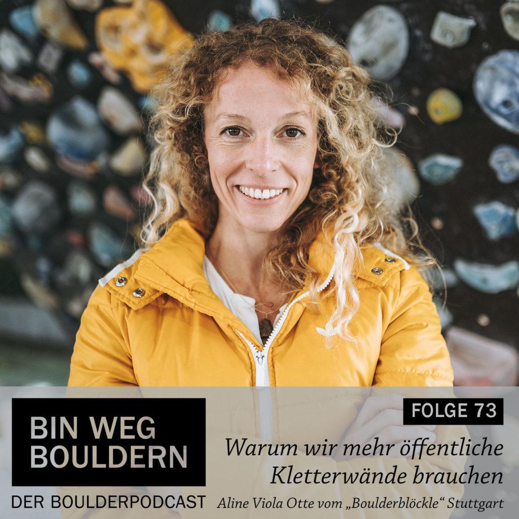 Aline Viola Otte vom Boulderblöckle Stuttgart im BIN WEG BOULDERN Interview